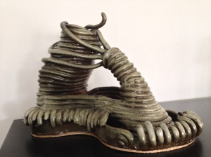 My favorite piece that I made in college, most definitely inspired by H.R. Giger's work.